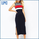 Maxi Bodycon Sexy Slim Fit Girl′s L Dress with Stripe From China