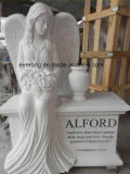 Weeping Angel White Marble Monuments Headstone and Tombstone