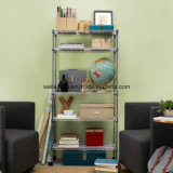 Supreme Mobile Adjustable Chrome Steel Wire Storage Shelf for Home Use