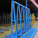 Steel Material A Shape Warehouse Storage Glass Rack