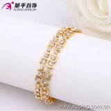 Xuping Fashion18k Gold Color Inlayed Stones Bracelet (73643)
