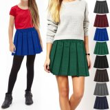 Girls Primary School Uniform Dress Pleated Skirt