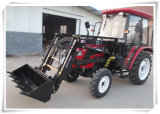 Flat Floor Structure Cabin 50HP 4X4 Agri Wheel Tractor Smaller 11.2-24 Rear Tyre