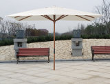 Rectangle Wooden Parasol, Garden Parasols