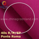 40s Rayon Nylon Spandex Ponte Roma Knitted Fabric for Textile Garment (GLLML214)