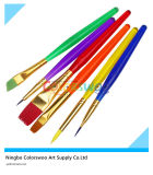 6PCS Colorful Plastic Artist Brush for Painting and Drawing