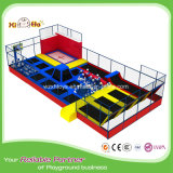 New Design Modern Moonwalker Trampoline Parks with Safety Net