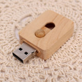 a Large Number of New Push-Pull Wood Manufacturers Supply Customized Gifts USB Flash Drive