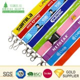 Cheap Wholesale Custom Logo Neck Strap Polyester Woven Nylon Printing Sublimation Ribbon Heat Transfer ID Card Holder Lanyards for Promotion Gift No Minimum