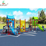 Latest Design Kids Outdoor Playground Play House with Plastic Slide