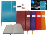 PU Leather Notebook with USB Disk