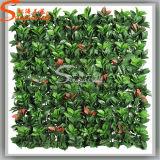 Landscape Design Orange Leaf Fake Grass Wall Artificial Green Wall