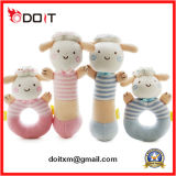 Ce/ASTM-F963 Soft Sheep Baby Play Rattle Gift Plush Toy Set