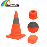 Best Price Exteriores Accesorios 30/40/45/60/70cm Flexible Reflective Folding Plegable Collapsible Retractable Traffic Cone/Cono for Car