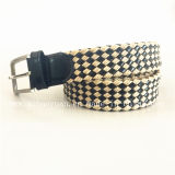 Simple Leather and Cotton Threads Braided Belts