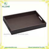 Hotel Guest Room Leather Amenity Tray