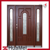 Fiberglass Door Woodgrain Texture Door and Door Skin-Double Door-8panels Product Customization