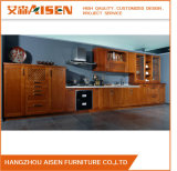Dark Wood Color Solid Wood Home Furniture Kitchen Cupboard