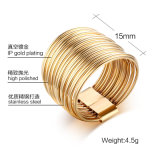 High Polish Gold Plating Stainless Steel Rings