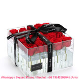 Luxury Romantic Clear Acrylic Plastic Rose Flower Box