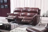 Genuine Leather Recliner Sofa (536A)