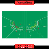 Baccarat Layout for 7 - Player Poker Casino Fold Waterproof Table Layout Green Color (YM-BL20G-1)