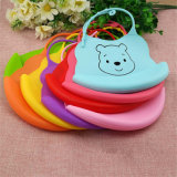 Sy03-01-001 FDA Waterproof Custom Logo Cartoon Silicone Baby Bib
