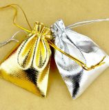 Drawstring Organza Satin Pouch Jewelry Wedding Favor Candy Bag Packing Gold Silver