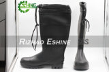 Fashion Black PVC Safety Boots with Lock Tie