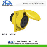 110-130V 413-4 4h IP44 Industrial Plug and Socket 16A 3 Pin Industrial Wall Mounted Socket Outlet