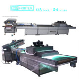 Tmp-70100 Oblique Arm Type Flat Screen Printer and UV Curing Machine with Robot Arm