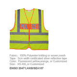 Wholesale/OEM High Reflective 100% Polyester Fabric 120GSM Safety Vest