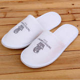 Disposable High Qualtiy 4star Hotel Embroidery White Slippers