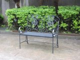 Outdoor Foldable Iron Garden Bench with Armrests