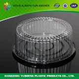 """Clear 7"""" Cake Dome with Black Lid"""