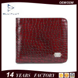 Fashion Genuine Grain Red Leather Mini Pocket Wallet Purse for Men