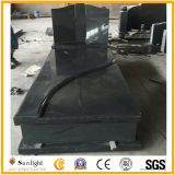 Natural Black Granite Monument, Headstone, Tombstone for American Market