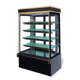 Four Shelves Marble Base Vertical Cake Showcase Display Cooler