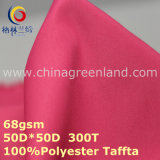 Polyester Pongee Plain Dyeing Fabric for Sportswear Textile (GLLML276)