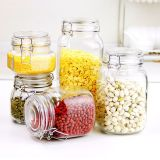 Food Storage Metal Clip Seal Glass Container