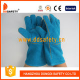 Ddsafety 2017 Green Leather Palm Full Lining Welder Glove