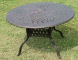 Practical 60′′ Cast Aluminum Round Table Garden Furniture