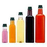 Square Glass Bottle Olive Oil Glass Bottle Vinegar Glass Bottle with Lid