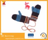 Wholesale Knitted Warm Children Gloves Hanging Neck for Winter