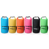 500d PVC Waterproof Dry Bag with Zipper and Mesh Pocket