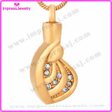 Urn Necklaces for Ashes Gold Plating Heart Pendant with Crystals Ijd9687