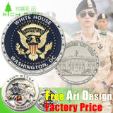 Custom Lapel Pin Medal Antiqu Trolley Token Double 24K 3D Silver Plastic Souvenir Military Police Gold Metal Challenge Coin No Minimum for Promotional Gift