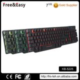 Wired USB 3 Colors Backlit Gaming Keyboard