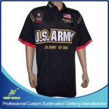 Customized Custom Sublimation Men's Motocross Pit Crew Race Shirts
