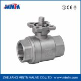 Stainless Steel 304CF8/ 316CF8m Ball Valve 2PCS with High Platform China Manufacturer NPT/Bsp/BSPT